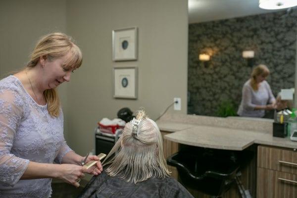 Veranda Senior Living has a salon
